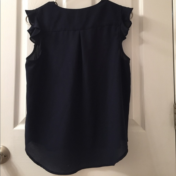 Forever 21 Navy Blouse 96