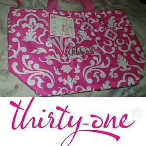 "Thirty One Handbags - 💎NEW💎U R U  ""Give"" Monogramed Thermal Lunch Tote"