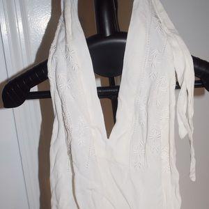 White detailed Zara top
