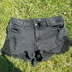Denim - Black denim shorts
