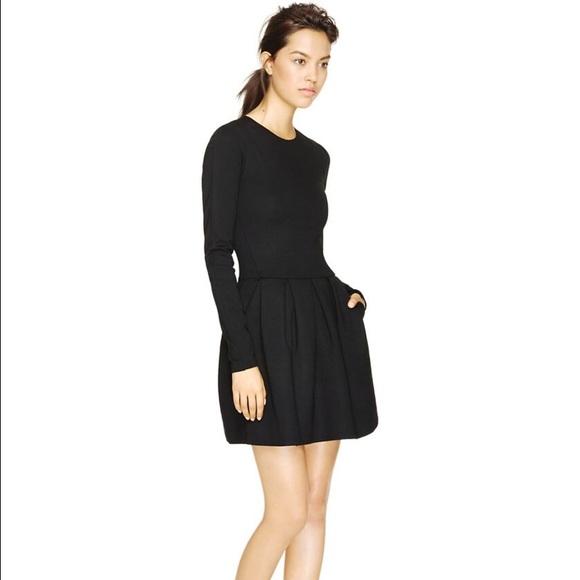 Aritzia Dresses Black Fit Flare Wilfred Dress Poshmark