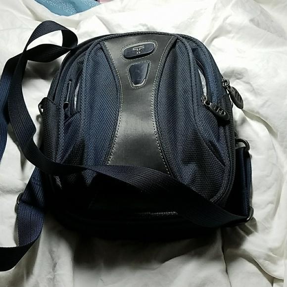 e2abe52318 Tumi Unisex Deep Blue Small Crossbody Bag