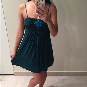 Dark green/blue jeweled party dress