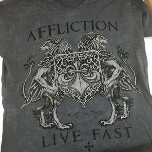 Affliction Other - AFFLICTION Black SMALL Velvet Winged Lion