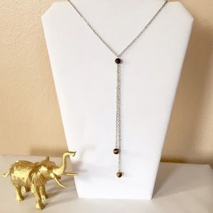 Jewelry - 🐯👀 Tiger's Eye Drop Necklace 👀🐯