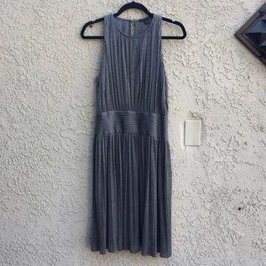 Banana Republic Grey Sleeveless Pleated Dress