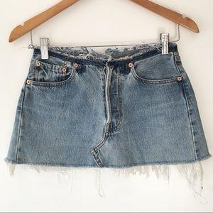 LF Dresses & Skirts - S17 reworked Levi's no waistband denim skirt