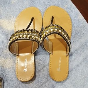 Anne Marie Shoes - Anne Marie India-1 Black Sandals Size 6 1/2