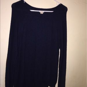 Navy Blue J Crew Patched Elbow Sweater