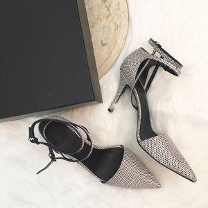 Alexander Wang Emma Textured Leather Pumps/Heels