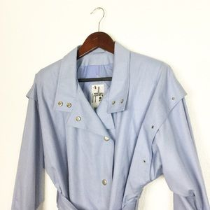Vintage Powder Blue Duster Trench Coat