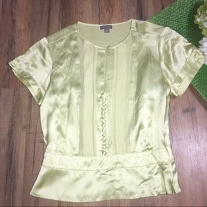 Ann Taylor Tops - ANN TAYLOR | 100% silk button detail top