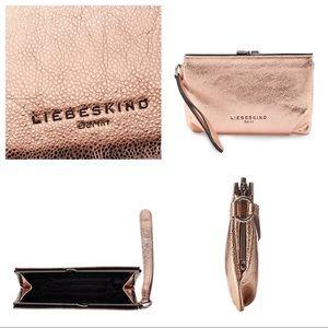 Liebeskind Handbags - Liebeskind® Patsy Clutch in copper & dust bag, NWT