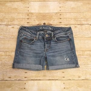 American Eagle Outfitters Pants - American Eagle distressed cut off shorts, 8