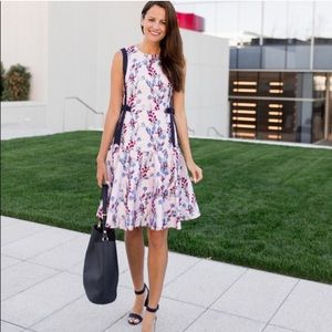 Draper James floral pink bow dress