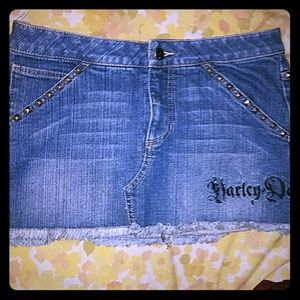 💥BOGO *Studded Harley-Davidson Jean Skirt!*NWOT!