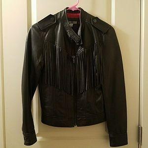 William Rast Jackets & Blazers - Black real leather motorcycle jacket