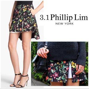 3.1 Phillip Lim Dresses & Skirts - 3.1 Phillip Lim Floral Tiered Silk Mini Skirt