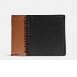 Coach Other - Coach baseball stitch slim billfold id wallet