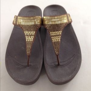 Fitflop gold and brown