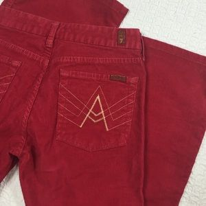 7 For All Mankind Denim - 7 for all mankind Corduroy A Pocket Jeans