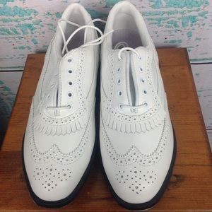 Etonic White Leather Oxford Wing Tips Golf 8