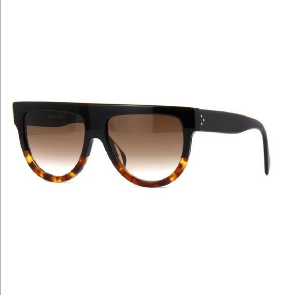 b5a1aa2b249 Celine Accessories - Celine Flat top Ombré black brown sunglasses