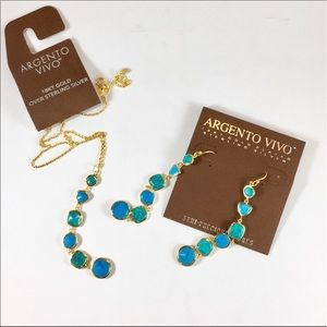 Argento Vivo Jewelry - Turquoise SET Necklace & Earrings Argento Vivo