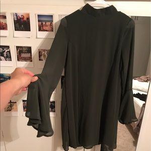 Dresses & Skirts - Sheer bell sleeves mini dress