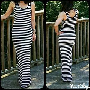 Classic Woman Dresses & Skirts - Striped Maxi Dress