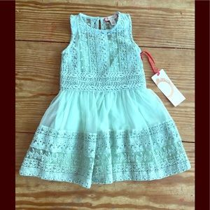 ruby & bloom Other - Sage green embroidered tulle lace dress