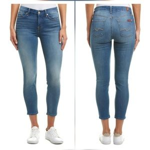 7 For All Mankind Kimmie Crop Skinny Jeans