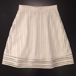 J. Crew Eyelet A-Line Skirt