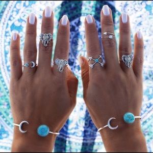 Jewelry - 6 PCS Bohemian Vintage Rings