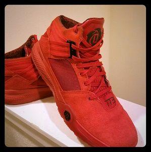 adidas Other - CUSTOM Adidas Derrik Rose 773 Red Hightower 10