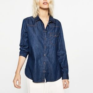 Zara basic denim shirt--- small