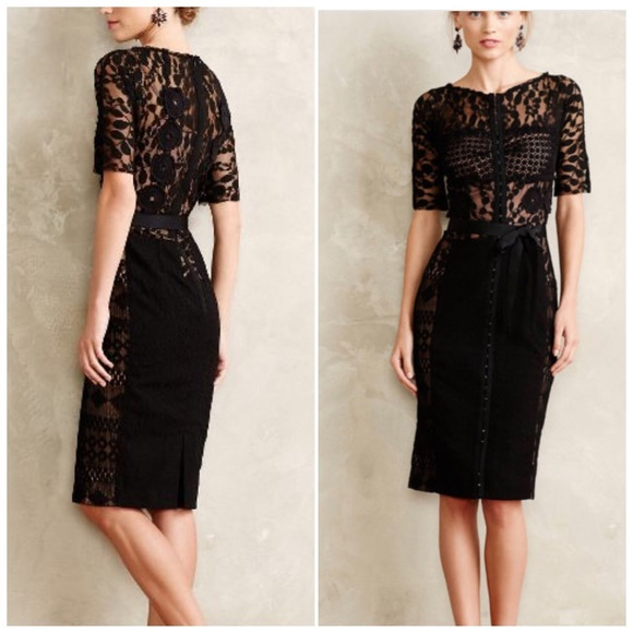17b70a457c70 Anthropologie Dresses & Skirts - Beguile by Byron Lars small 4 black lace  dress