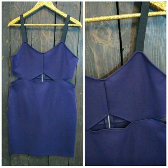 H&M Dresses & Skirts - H&M Divided Deep Purple Cut Out Dress