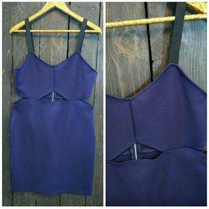 H&M Dresses - H&M Divided Deep Purple Cut Out Dress