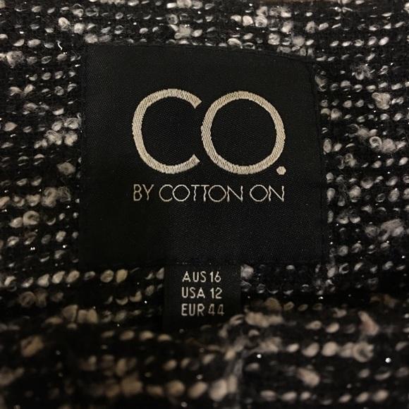 Cotton On Jackets & Coats - Mixed Media Peplum Jacket