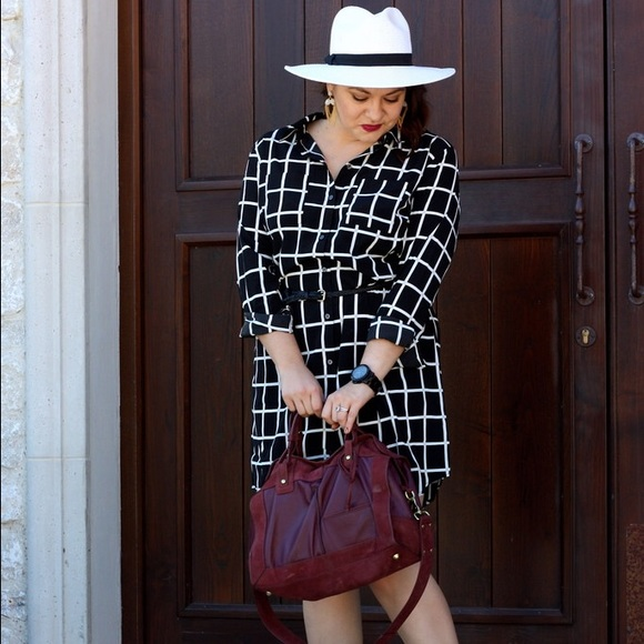 Old Navy Dresses & Skirts - Black & White Windowpane Shirtdress
