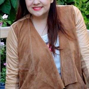 Hinge Jackets & Coats - Draped Suede & Leather Jacket