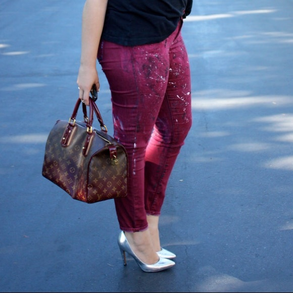GAP Jeans - Upcycled Hand-Painted & Dyed Skinny Jeans