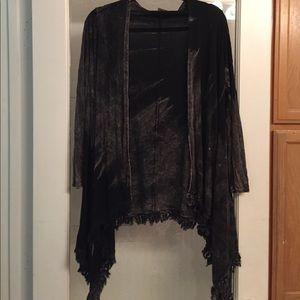 American Age Tops - NWOT tie dye acid wash style kimono cardigan