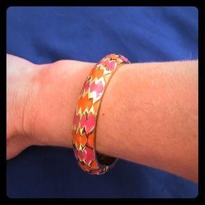 Pink orange and gold bracelet