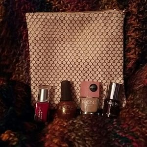 Other - Makeup bag & Polish Bundle BRAND-NEW