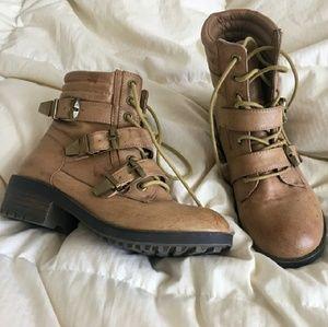 Like new Asos Tan Combat Boots