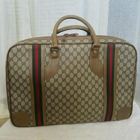 7891ea42075 Gucci Handbags - Auth. Vintage Gucci Travel Luggage Bag