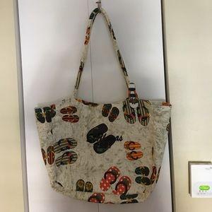 520ec61b2a ... Adorable Beach Bag w Attached Zip Bag Inside ...