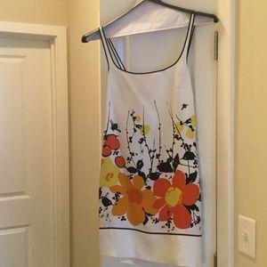Susana Monaco Dresses & Skirts - Susana Monaco silk white dress with pockets